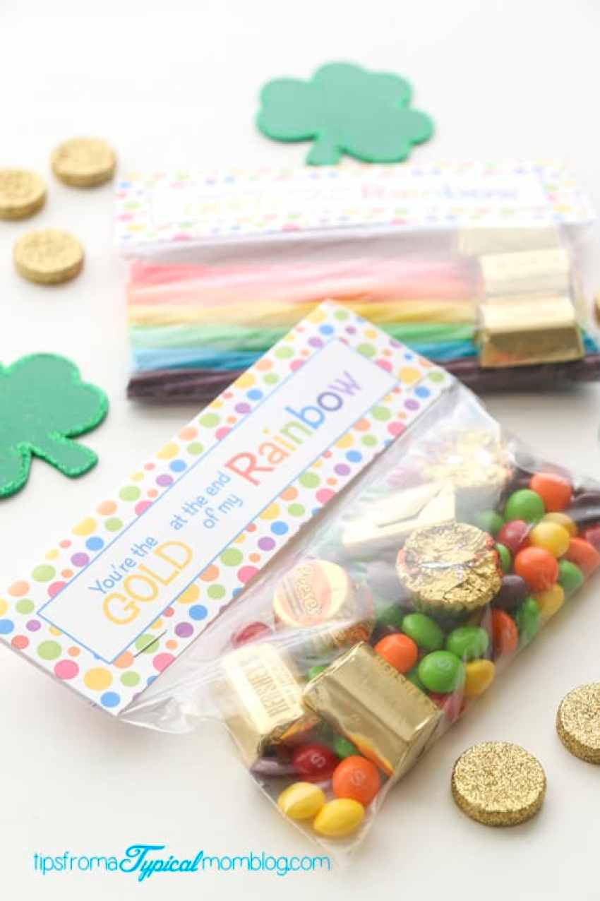 St.Patrick's Day Bag Topper + Treat