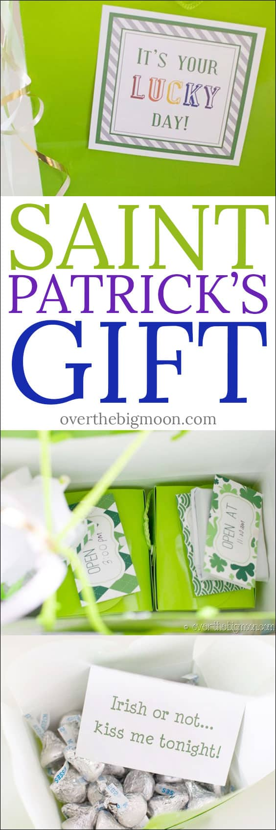 St. Patrick's Day Gift Idea for your signficant other! A gift idea that will last all day! From overthebigmoon.com!