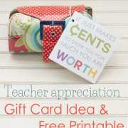 Teacher Appreciation Gift Card