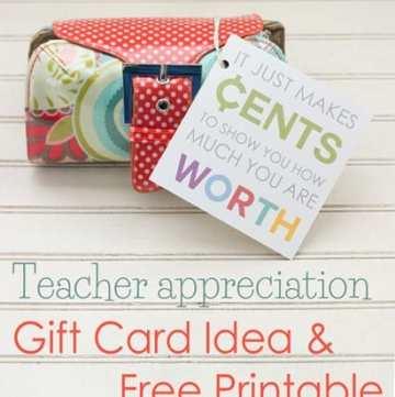 Teacher Appreciation Gift Card