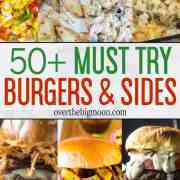 A hamburger and side dish is a staple meal almost all over the world! Spice up your standard burger night by trying one of these tasty Hamburger Recipes and Side Dishes! I've compiled 50+ amazing recipes for you to consider!