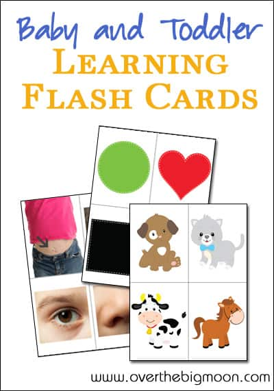 Baby and Toddler Learning Flash Cards - Body Parts, Colors/Shapes and Animal Sounds
