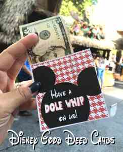 Disneyland Good Deed Cards