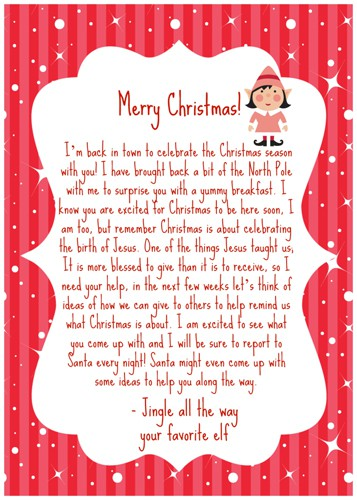picture relating to Elf on the Shelf Goodbye Letter Free Printable named 10 Resourceful Path toward Say Goodbye in the direction of Your Elf upon the Shelf