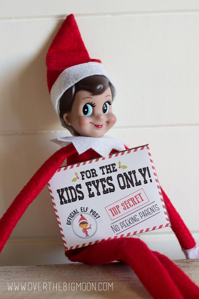 picture relating to Elf Printable named Elf upon the Shelf Mission Not possible Envelopes and Playing cards