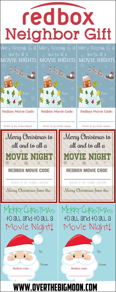 Redbox Neighbor Gift Idea - easy and practical! Multiple design options available!