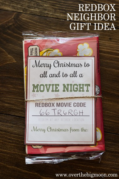 picture about Redbox Gift Card Printable called Redbox Neighbor Present Principle - Higher than the Massive Moon