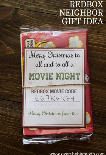 Movie Night Gift Idea - perfect for friends, co-workers and neighbors!
