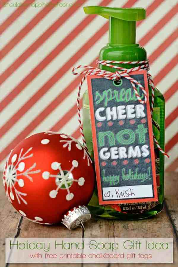 Christmas Soap Gift Tag + other fun Teacher Gift Ideas | overthebigmoon.com