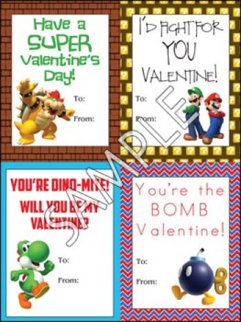 Printable Super Mario Valentine's | overthebigmoon.com