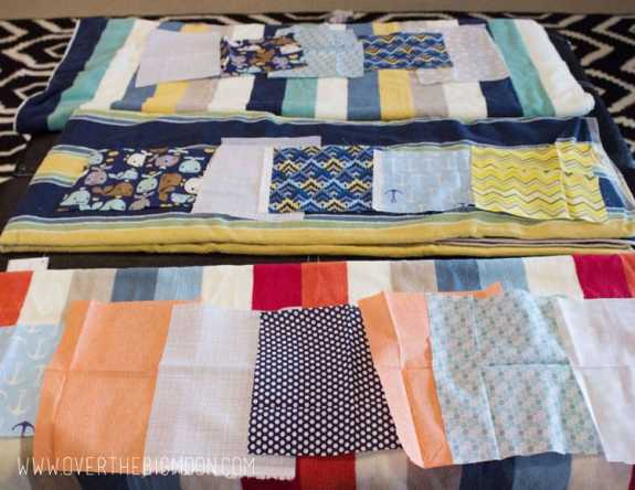 Applique towels1
