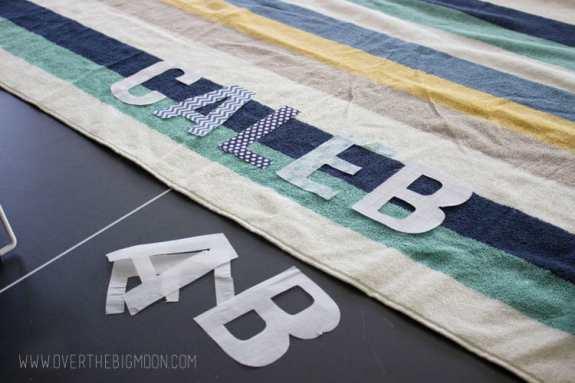 Applique towels5