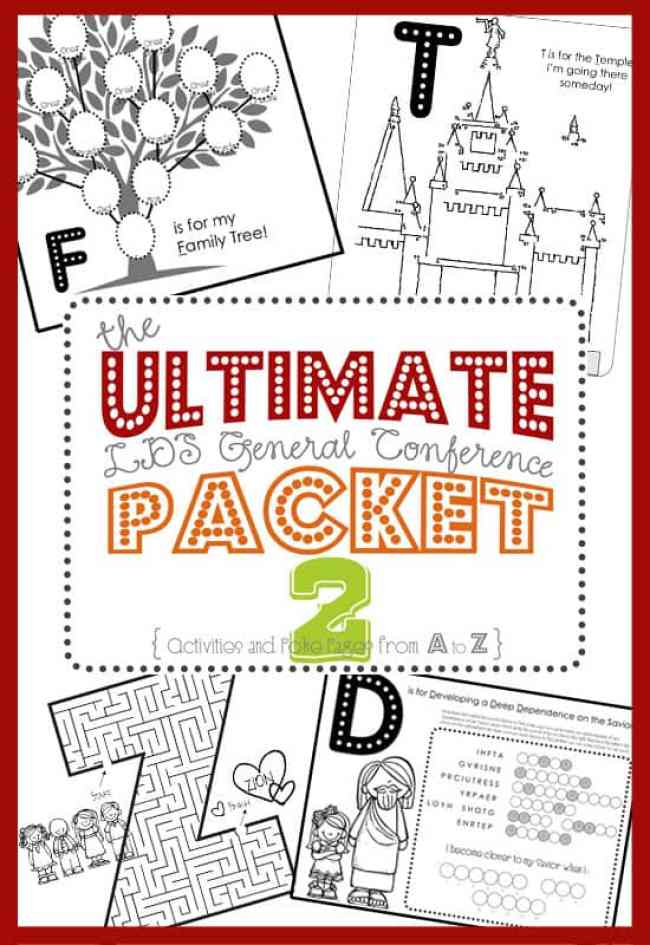 Fun General Conference Learning Activities for Kids from overthebigmoon.com!