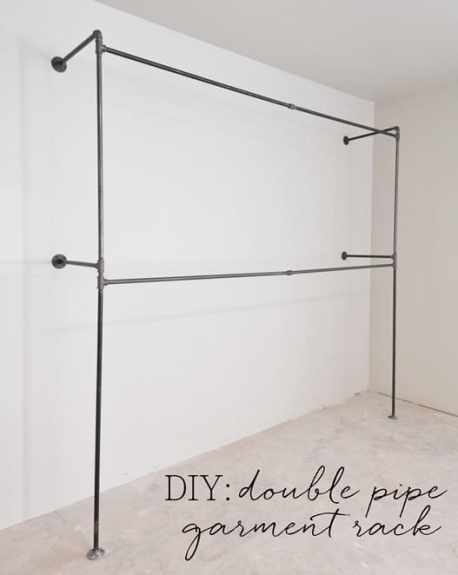 diy-double-pipe-garment-rack