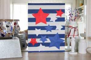 4th of July 3d Stars Decor Idea