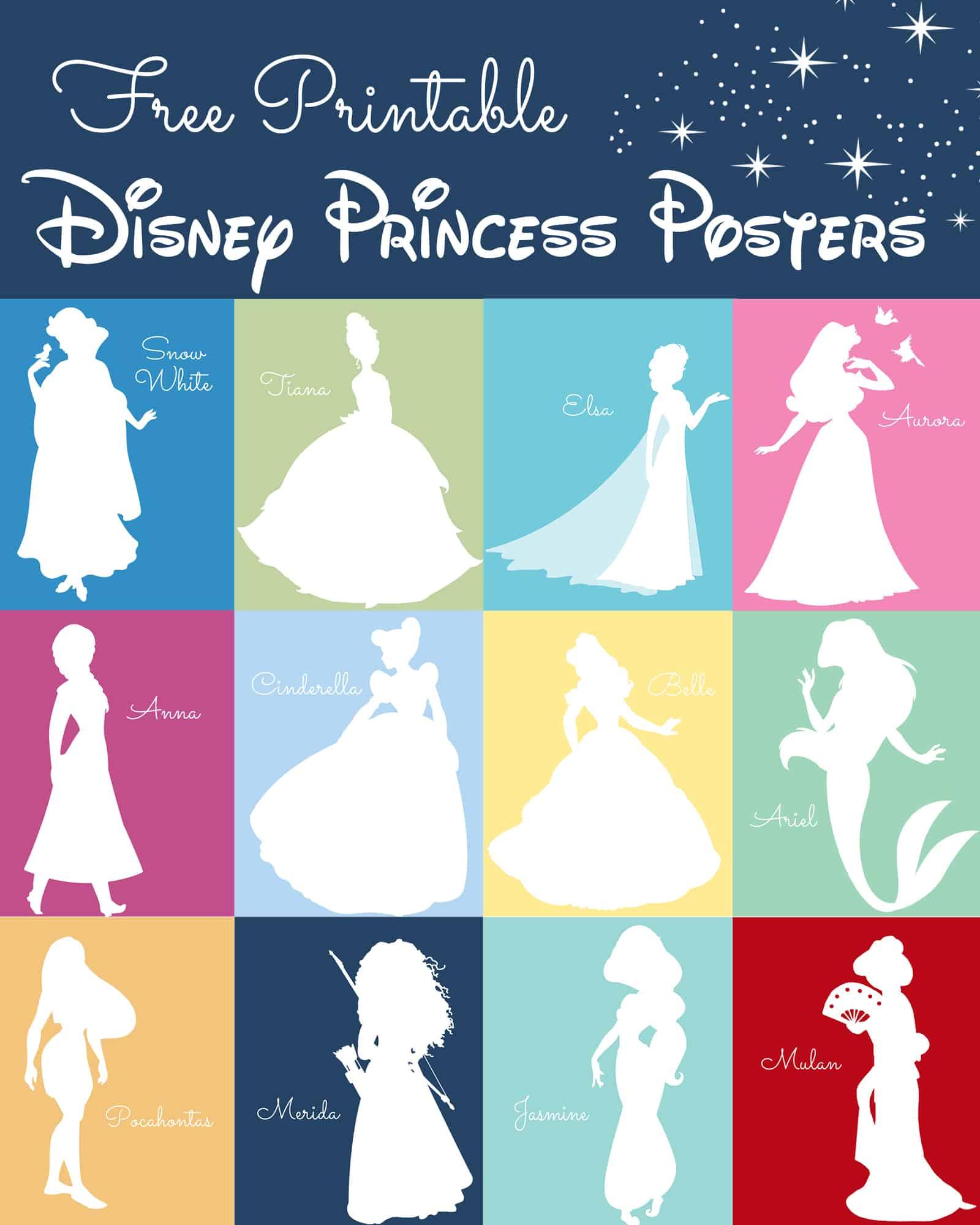 Free Disney Princess Silhouette Prints