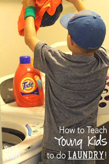 How to Teach Young Kids to do Laundry | Over the Big Moon