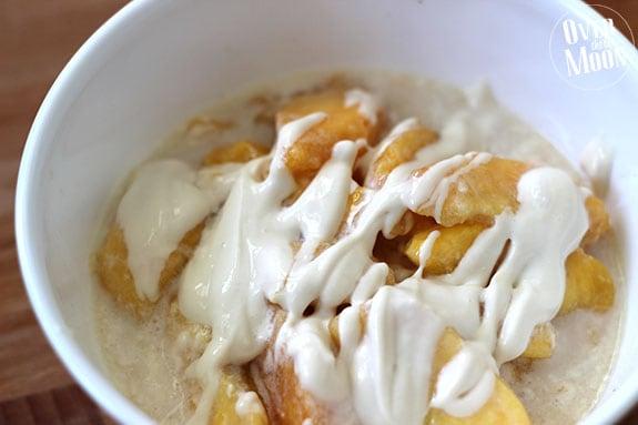 Traditional Peaches & Cream w/ Mascarpone Sauce | Over the Big Moon