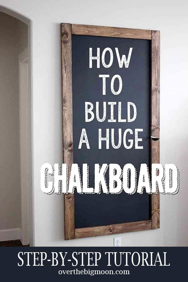 How To Build A Huge Chalkboard Over The Big Moon