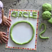 Learning Shapes Playdough Mats - just print on your home printer and laminate for hours of fun for your kiddos! From www.overthebigmoon.com!
