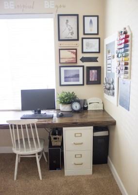 File Cabinet Desk Tutorial from overthebigmoon.com!