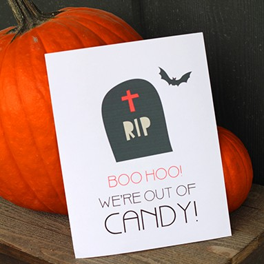 Halloween Out of Candy Printable