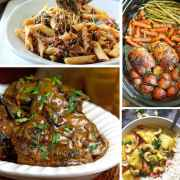 38 Tasty Crockpot - we all have those crazy evenings! These are perfect dinners that you can make earlier in the day! From www.overthebigmoon.com!