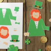 Spin a Leprechaun Free Printable Kids Game for St. Patricks Day! Kids love this! Available at www.overthebigmoon.com!