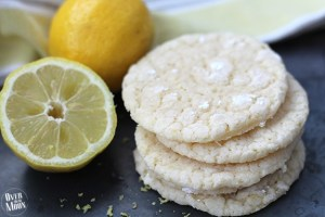 Lemon Crinkle Cookie - this is the best lemon cookie ever! SOO soft and the perfect amount of lemon flavoring! From www.overthebigmoon.com!