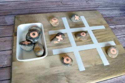DIY Outdoor Tic Tac Toe Game