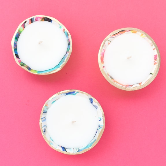 DIY Marble Bowl Candles