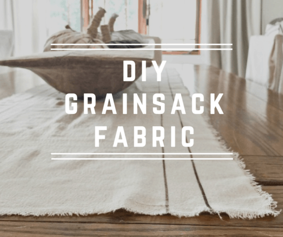 Did you know making your own grainsack fabric can be so easy?