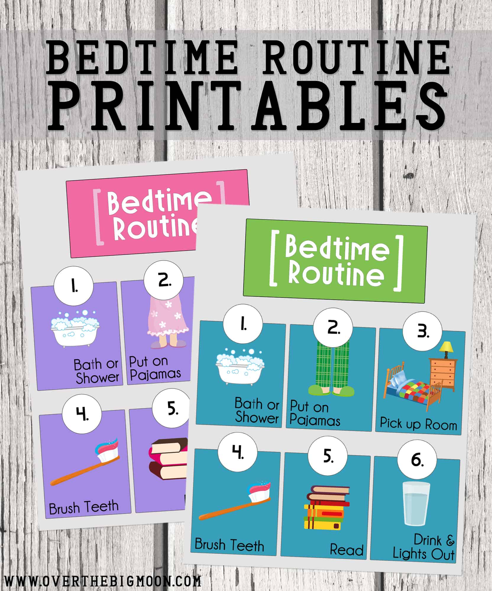 Bedtime Routine Printables
