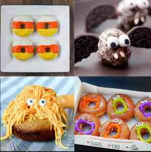 Halloween Donut Treat Ideas - such fun ideas! My kids would love these! | www.overthebigmoon.com