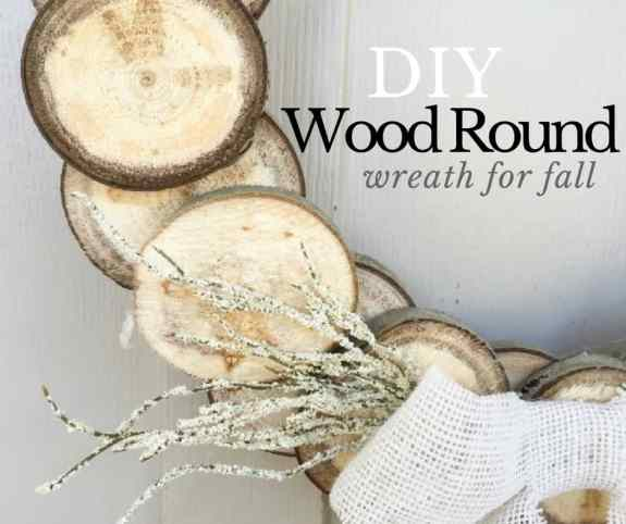 Try out this wood slice wreath for fall and make a statement!