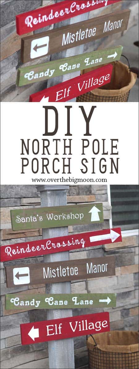 North Pole Porch Sign Tutorial from www.overthebigmoon.com