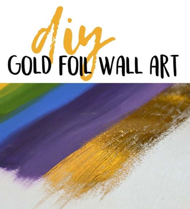 DIY Gold Foil Wall Art