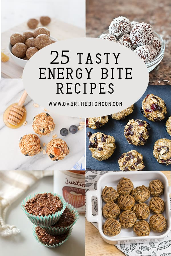 25 Energy Bite Recipes that are super good! From www.overthebigmoon.com!