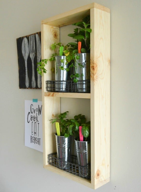 DIY Wooden Herb Garden