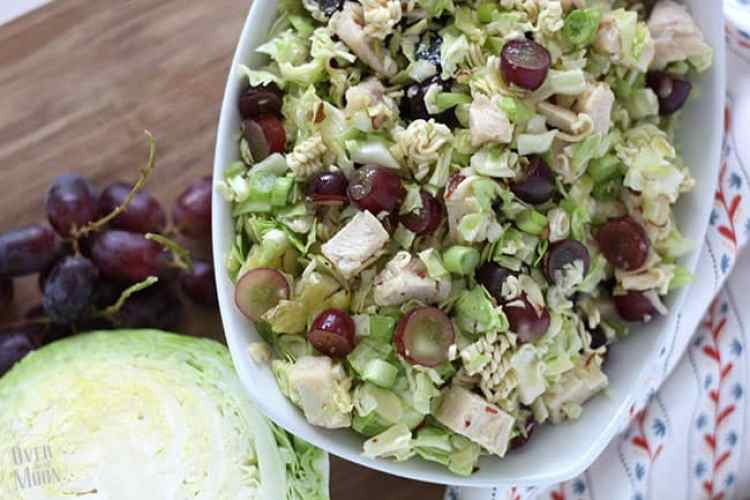 Chicken Cabbage Ramen Salad | www.overthebigmoon.com