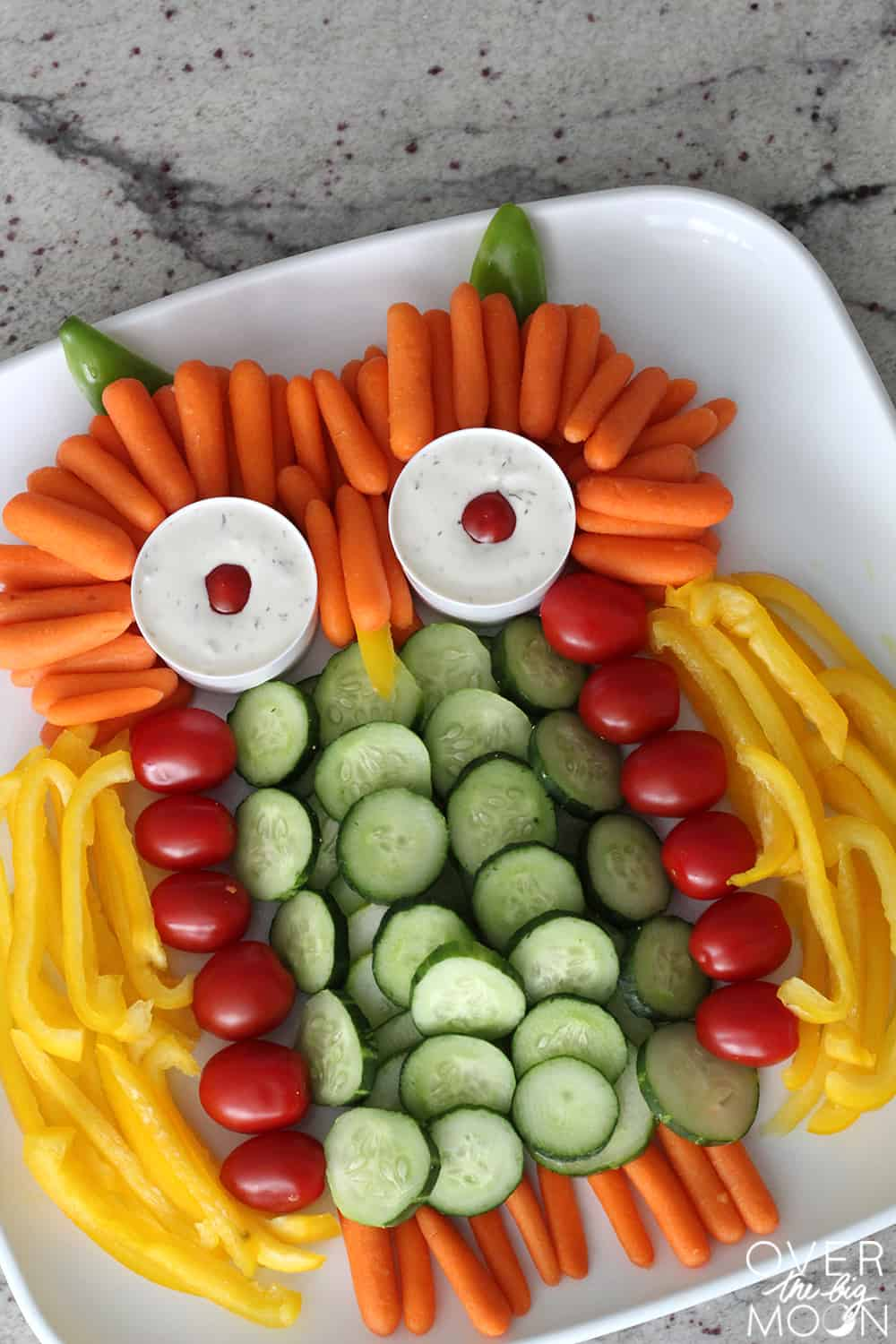 Owl Veggie Tray Over The Big Moon