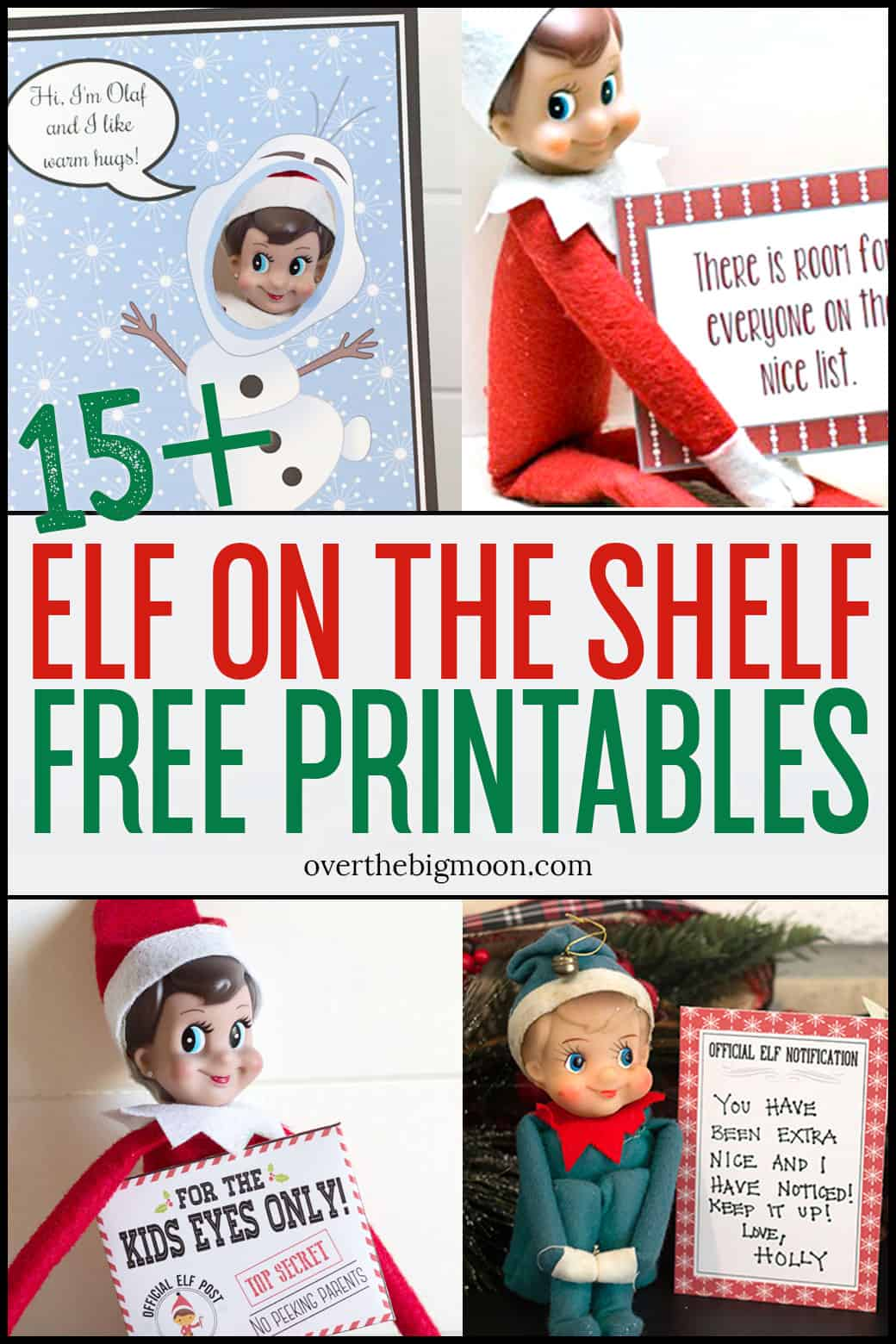 photograph relating to Elf Printable called Elf upon the Shelf Printables Tips About The Massive Moon