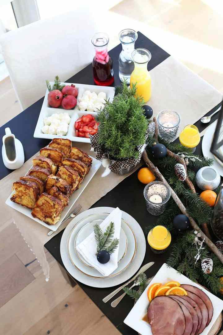 Holiday Table Decor and Menu Ideas from www.overthebigmoon.com!