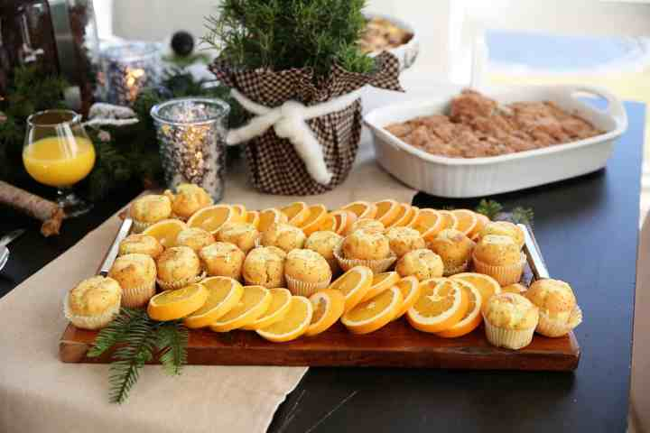 Muffin Board Idea - perfect for Christmas Breakfast or Brunch - from www.overthebigmoon.com!