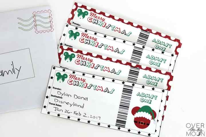 How to Gift Disneyland or Disneyworld to your Family for Christmas! From overthebigmoon.com!