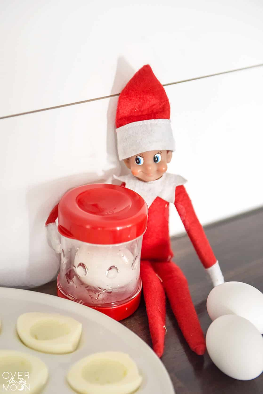 The Helpful Elf is at it again helping out around the house! Come see all the fun (and helping) he's doing! From overthebigmoon.com!