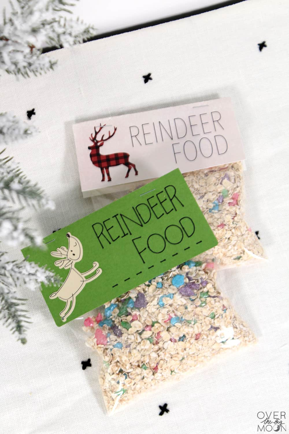 graphic about Magic Reindeer Food Printable titled Magic Reindeer Meals Recipe - More than the Huge Moon