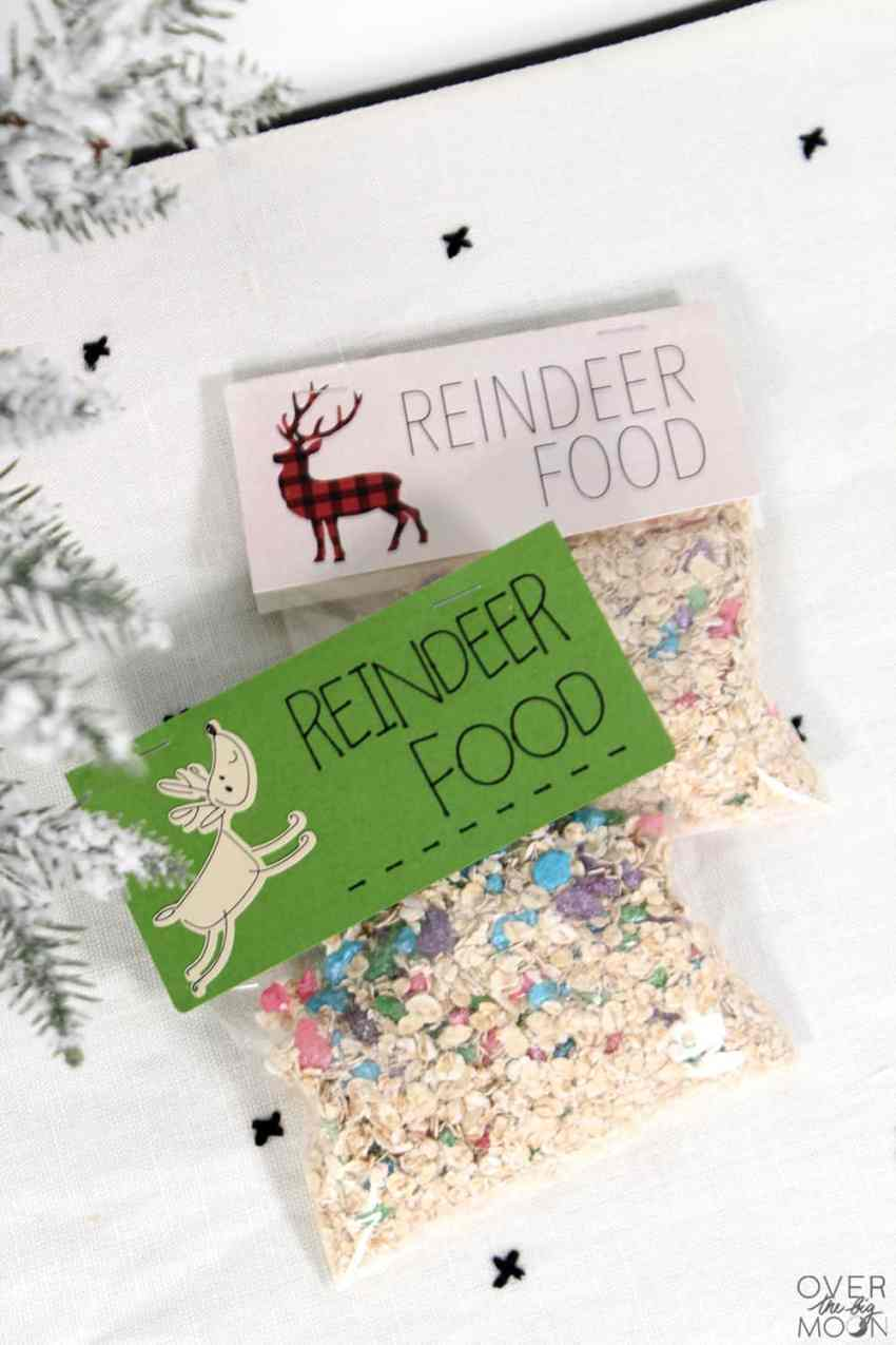 Magical Reindeer Food with printable bag topper or design space file! From overthebigmoon.com!