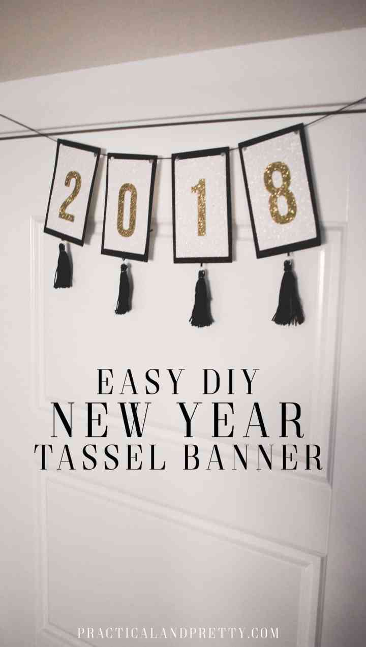 New Years is coming in quick! Celebrate the season with this simple DIY glitter banner!