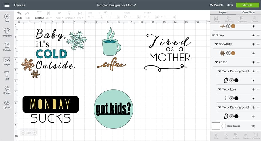 Tumbler Designs perfect for moms -- add these to your coffee tumbler or water bottle! From overthebigmoon.com! #vinyl #cricutmade #coffeemug #tumbler